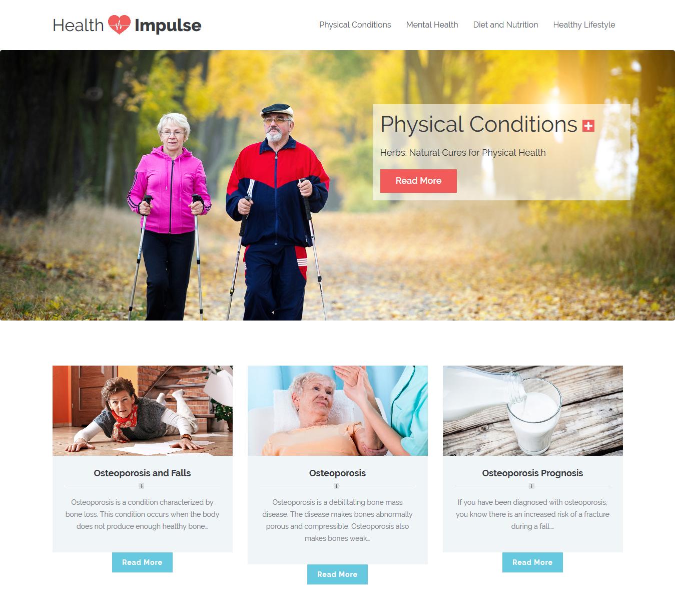 Health Impulse | WordPress Website Development | Web Development